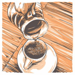 illustration, specialty coffee branding