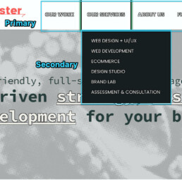 example of primary and secondary (dropdown) menus, these from SeaMonster Studios