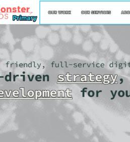 example of primary menu - SeaMonster Studio's